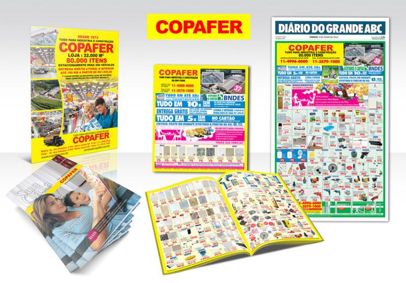 Folheto Promocional e anúncio de Jornal Copafer