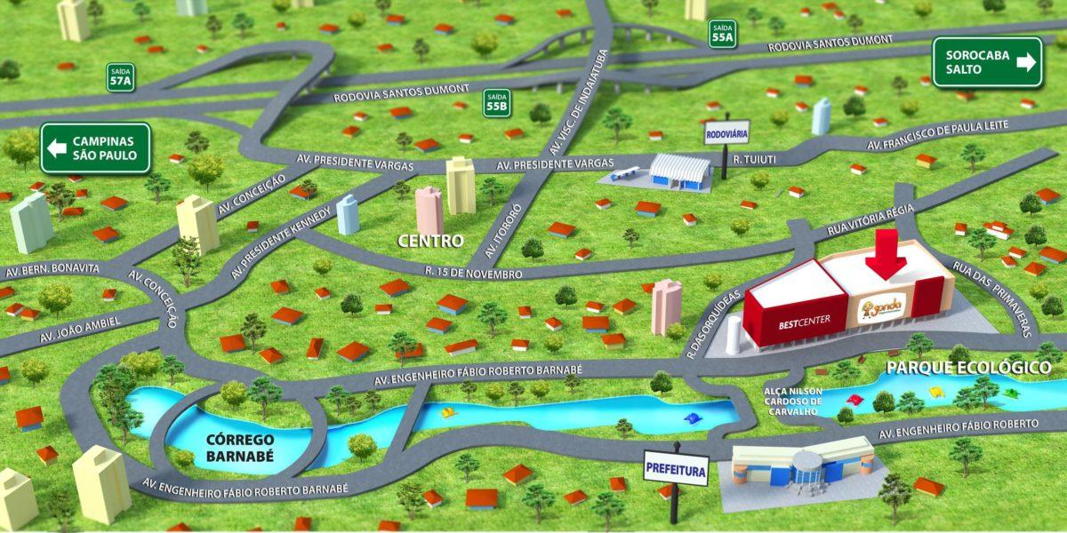 Mapa Ilustrativo ilustrado pela Stilo Arte Propaganda